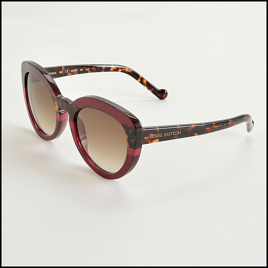 RDC8204 Louis Vuitton Shimmer Peony Stripe and Tortoise Sunglasses side
