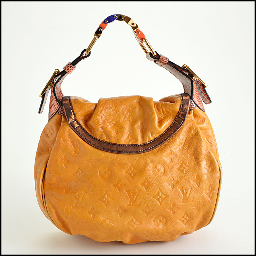 Louis Vuitton Leather Kalahari Handbag back view