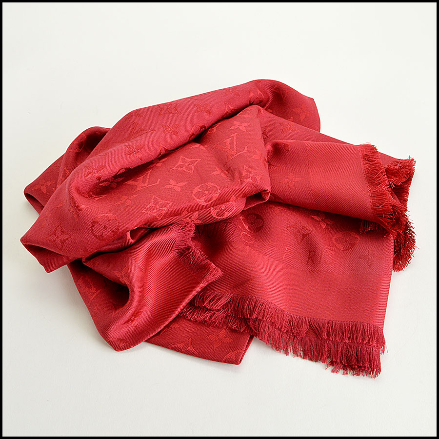 Louis Vuitton Red Monogram Shawl fold