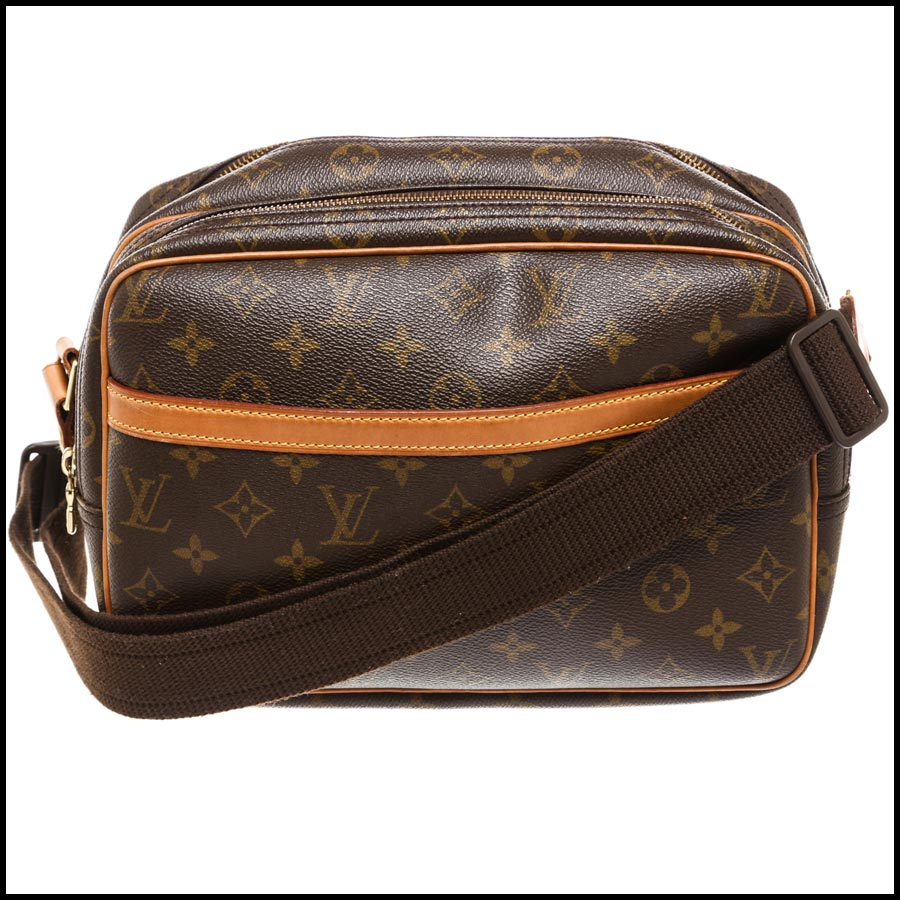 RDC7869  Louis Vuitton LV Monogram Canvas Reporter PM Crossbody