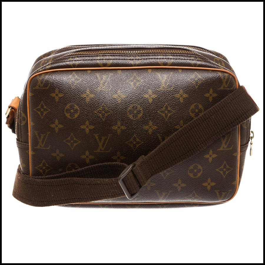 RDC7869  Louis Vuitton LV Monogram Canvas Reporter PM Crossbody back