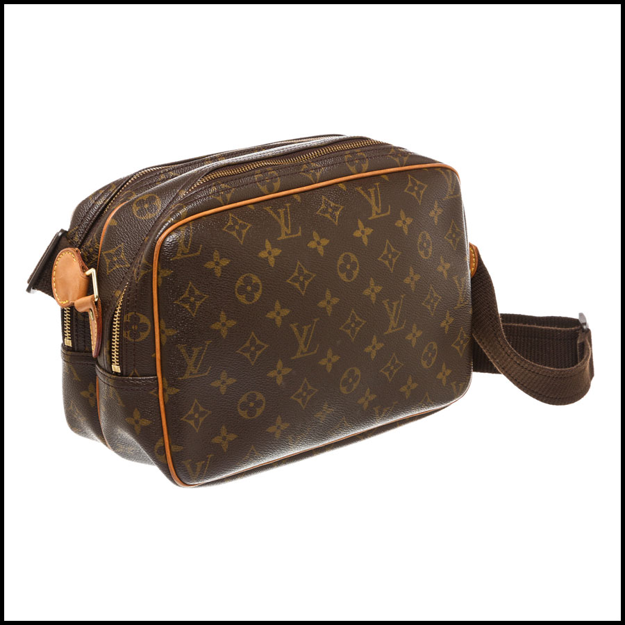 RDC7869  Louis Vuitton LV Monogram Canvas Reporter PM Crossbody side 1