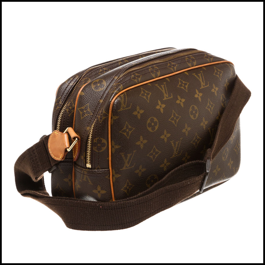 RDC7869  Louis Vuitton LV Monogram Canvas Reporter PM Crossbody side 2