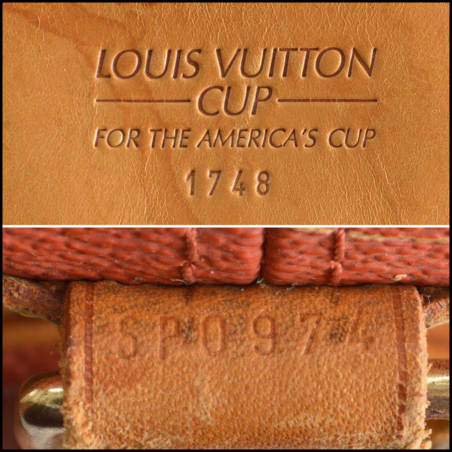 RDC8258 Louis Vuitton Red Saint Tropez Cup Shoulder Bag tag