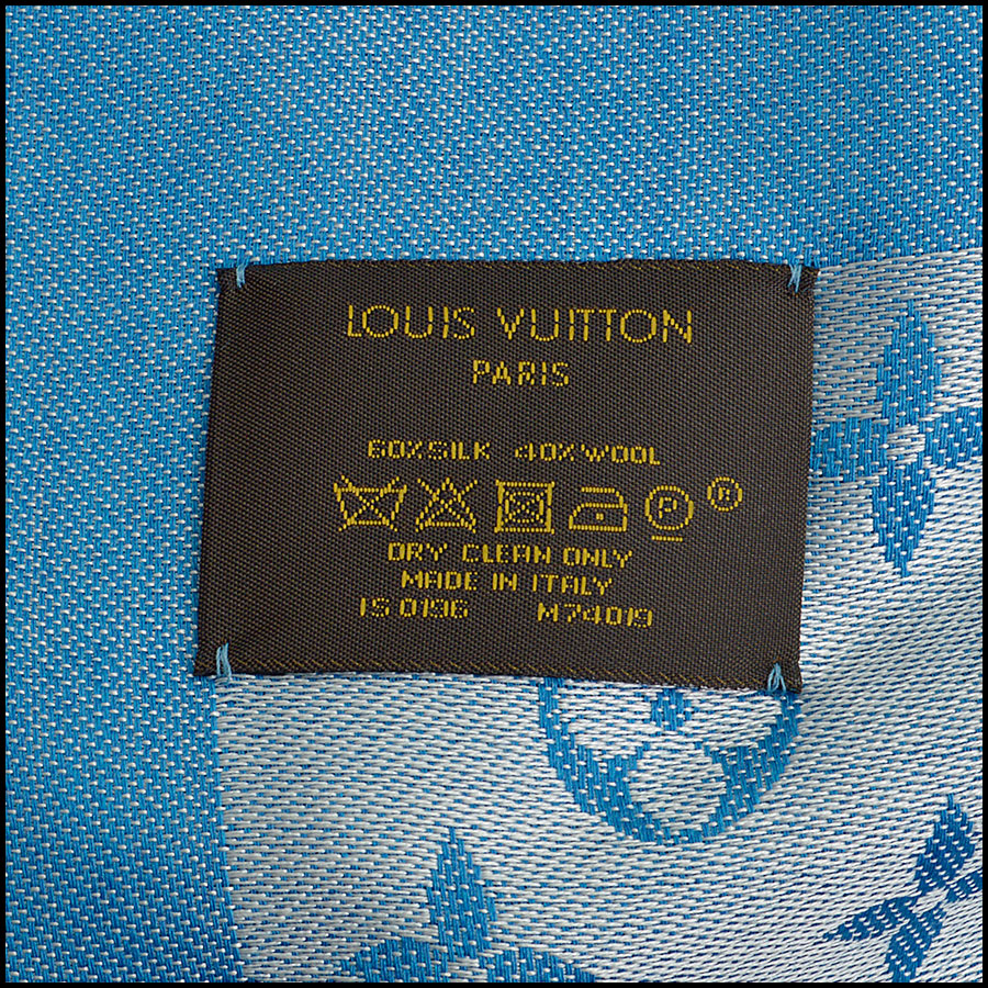 RDC8952 Louis Vuitton Large Scarf tag