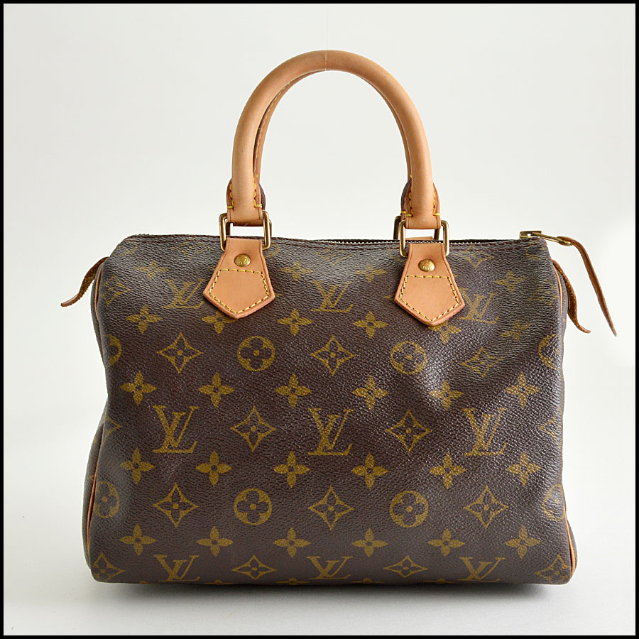 RDC8210 Louis Vuitton Monogram Canvas Leather Speedy 25cm Satchel