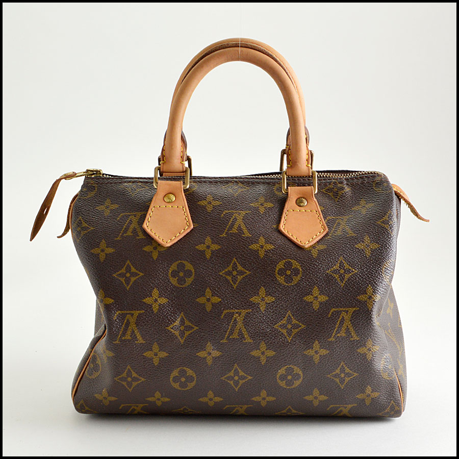 RDC8210 Louis Vuitton Monogram Canvas Leather Speedy 25cm Satchel back
