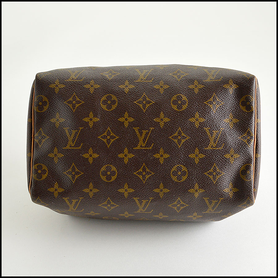 RDC8210 Louis Vuitton Monogram Canvas Leather Speedy 25cm Satchel bottom