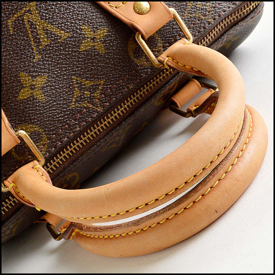 RDC8210 Louis Vuitton Monogram Canvas Leather Speedy 25cm Satchel handle