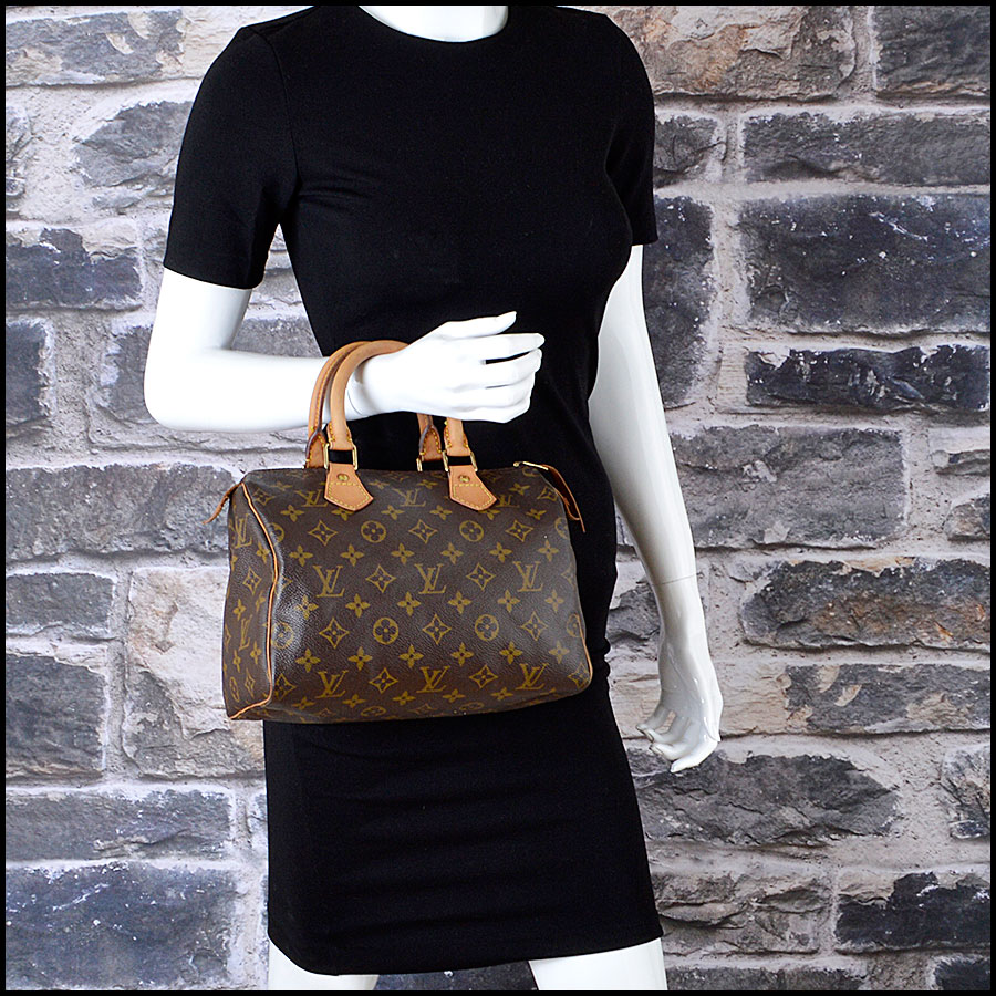 RDC8210 Louis Vuitton Monogram Canvas Leather Speedy 25cm Satchel model