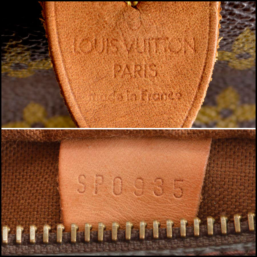 RDC8210 Louis Vuitton Monogram Canvas Leather Speedy 25cm Satchel tag