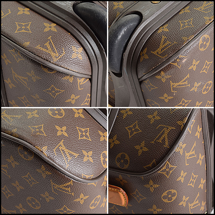 RDC9315 Louis Vuitton Pegase 55 Suitcase lower corners
