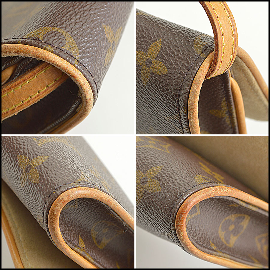 RDC8881 Louis Vuitton LV Monogram Twin Pochette GM corners