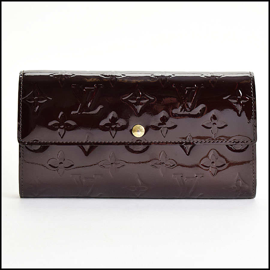 RDC9611 Louis Vuitton Amarante Vernis Monogram Wallet