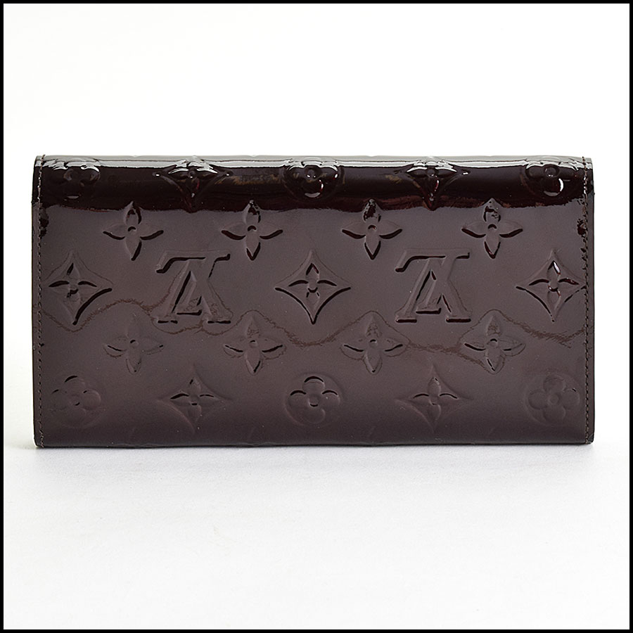 RDC9611 Louis Vuitton Amarante Vernis Monogram Wallet back