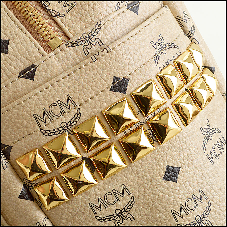 RDC8460 MCM studded stark backpack close up
