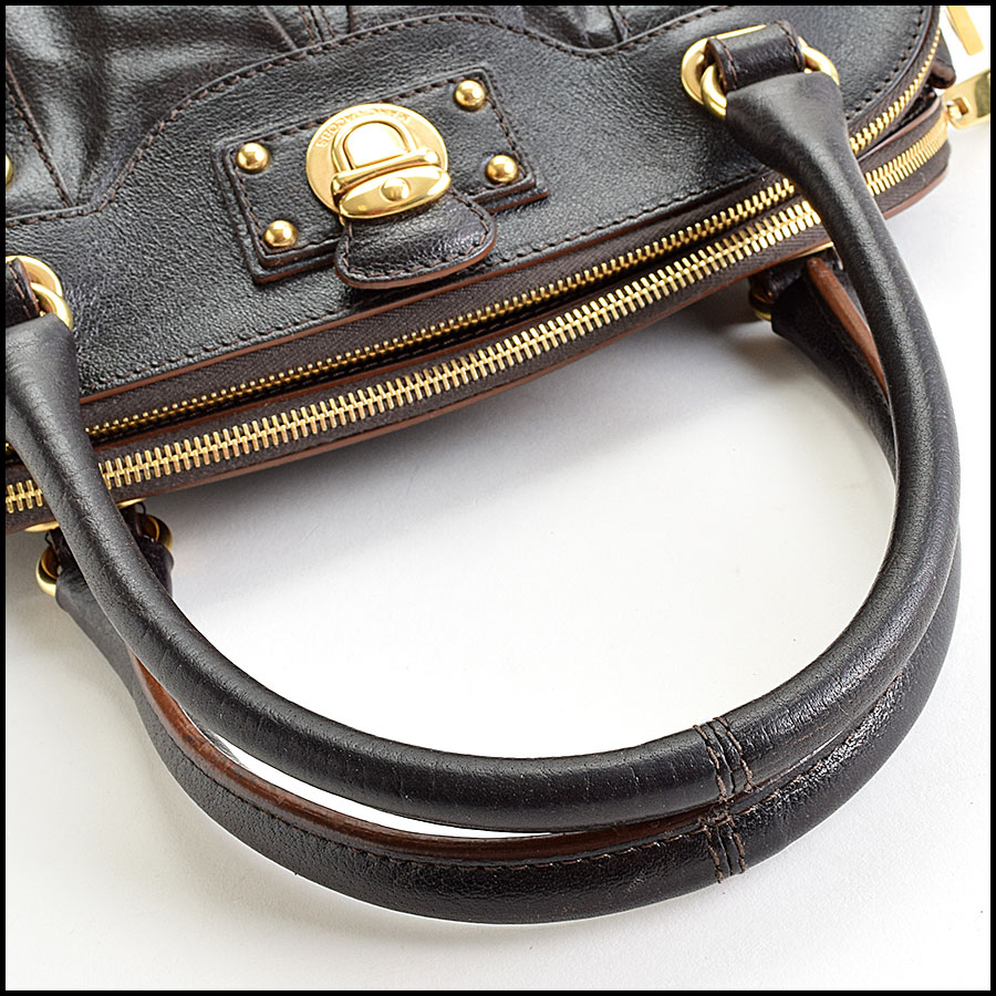 RDC9402 Marc Jacobs Dark Brown Hudson handle
