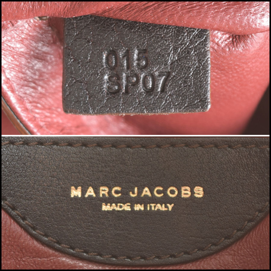 RDC9402 Marc Jacobs Dark Brown Hudson tag 2