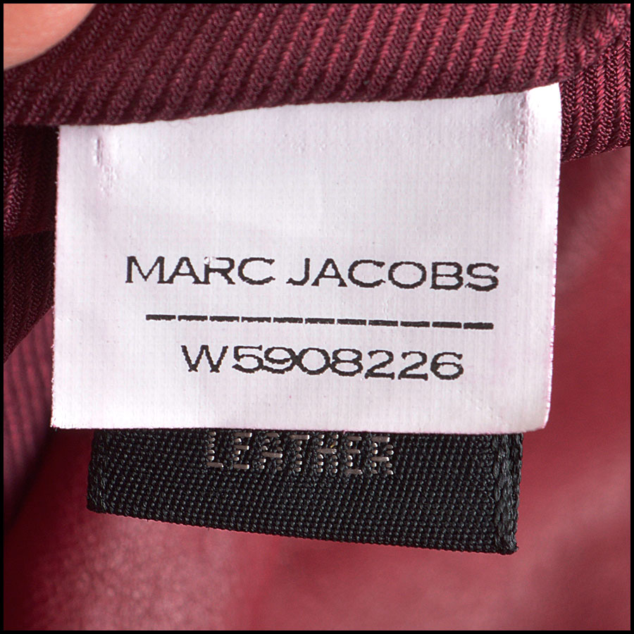 RDC8532 Marc Jacobs Red Leather Open Zipper Jacket tag 1