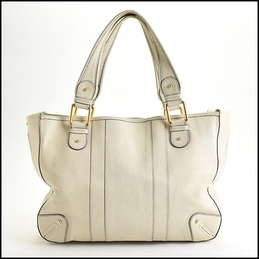 RDC9637 Marc Jacobs Ivory Zip Tote  back