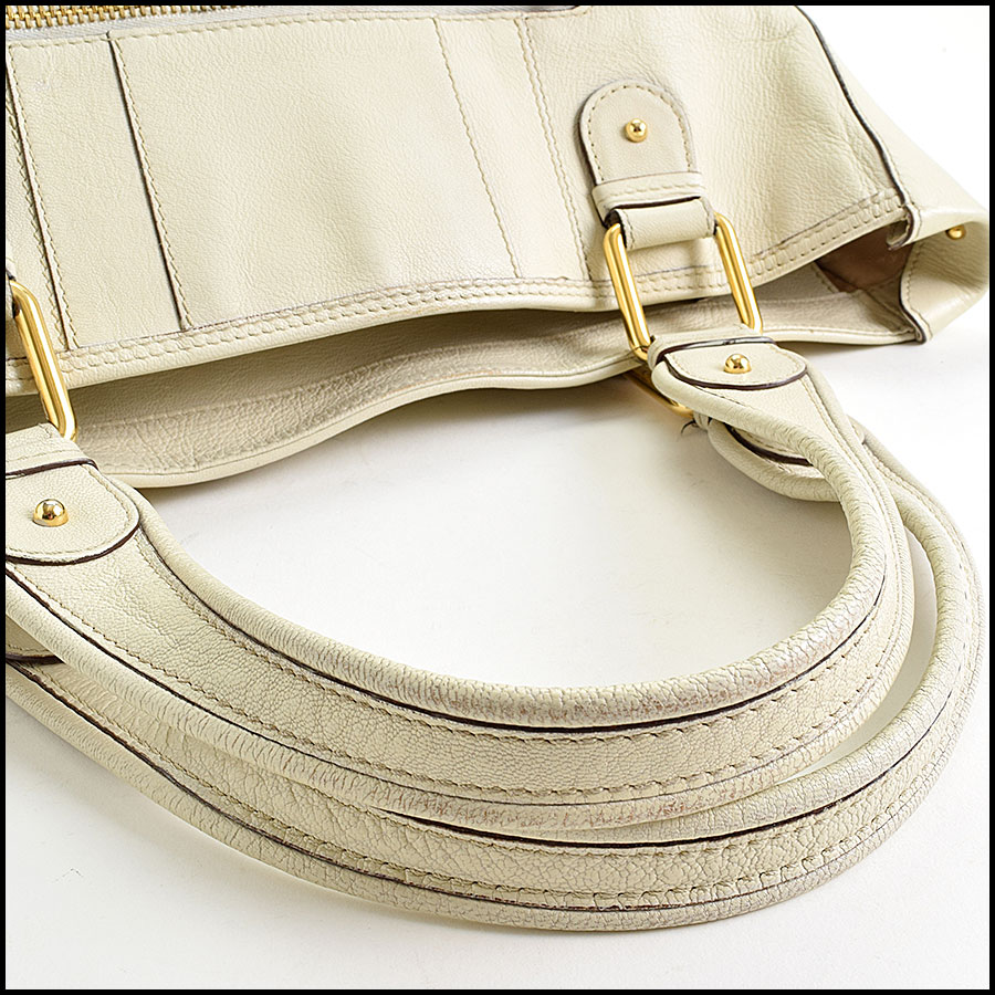 RDC9637 Marc Jacobs Ivory Zip Tote  handle