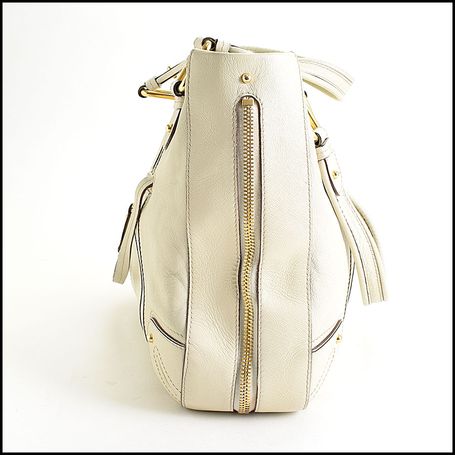 RDC9637 Marc Jacobs Ivory Zip Tote  side