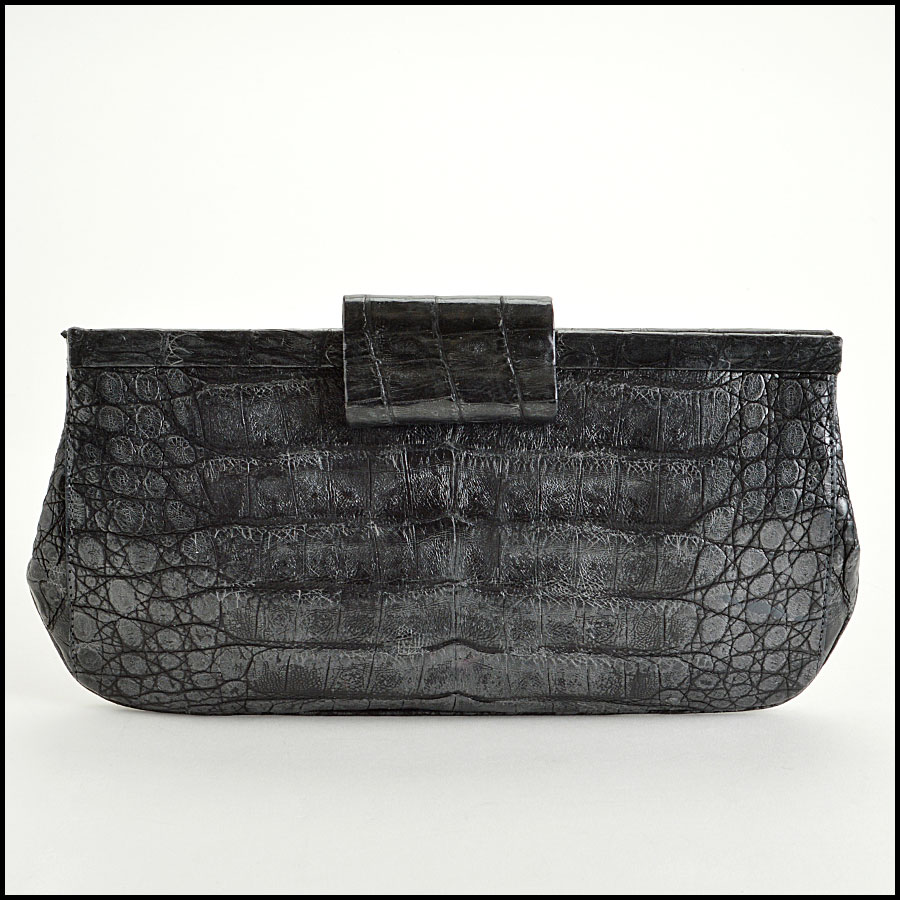 RDC7748 Nancy Gonzalez Crocodile Clutch Back