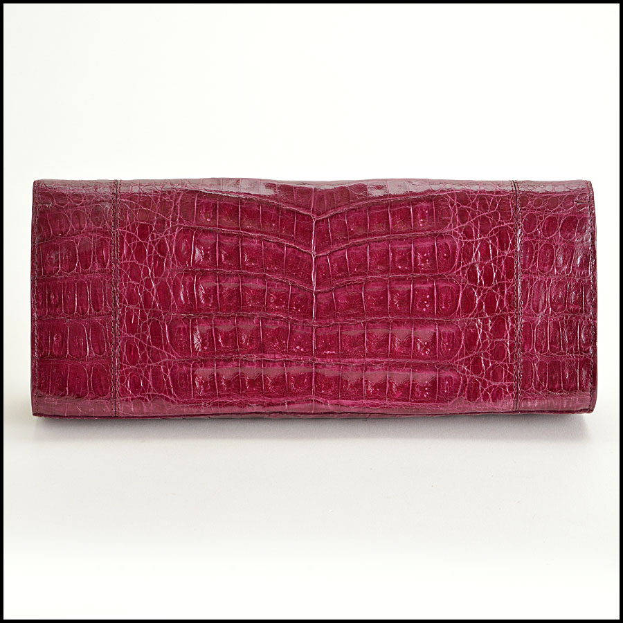 Nancy Gonzalez Crocodile Clutch Handbag Back