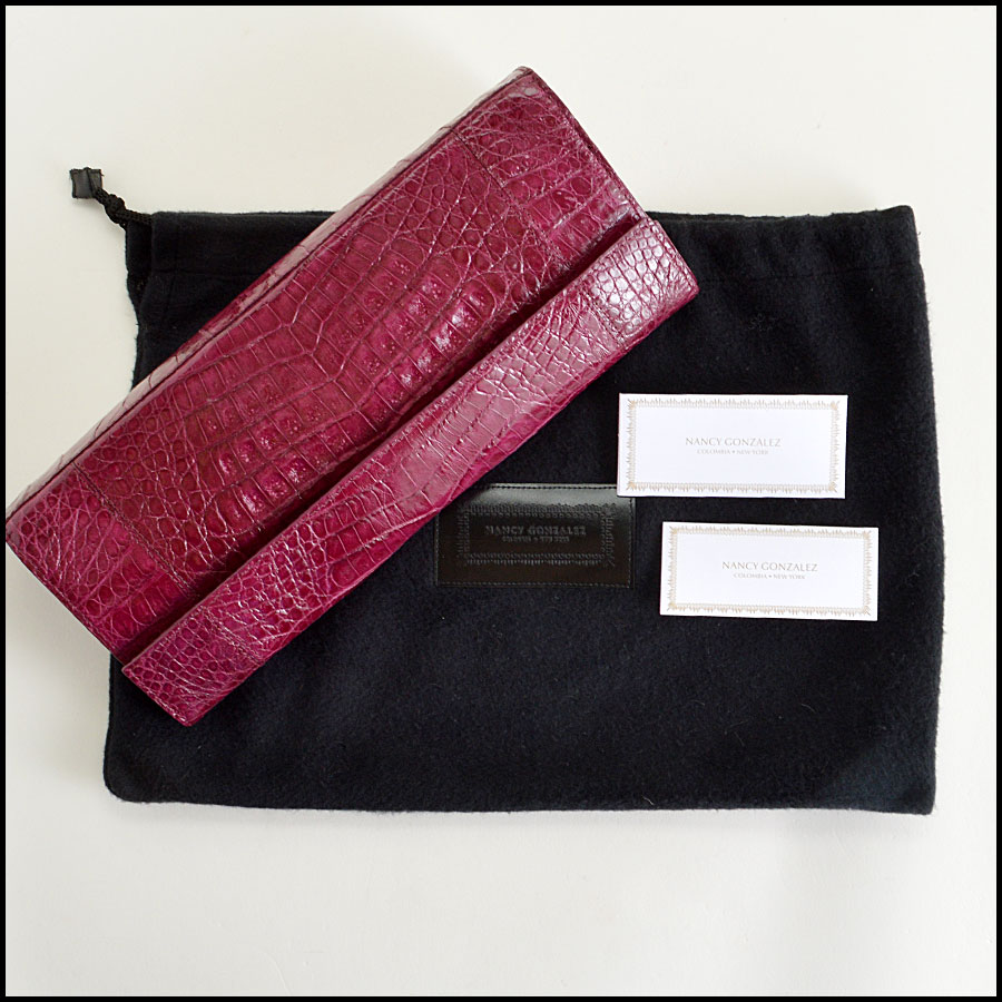 Nancy Gonzalez Crocodile Clutch Handbag Extra