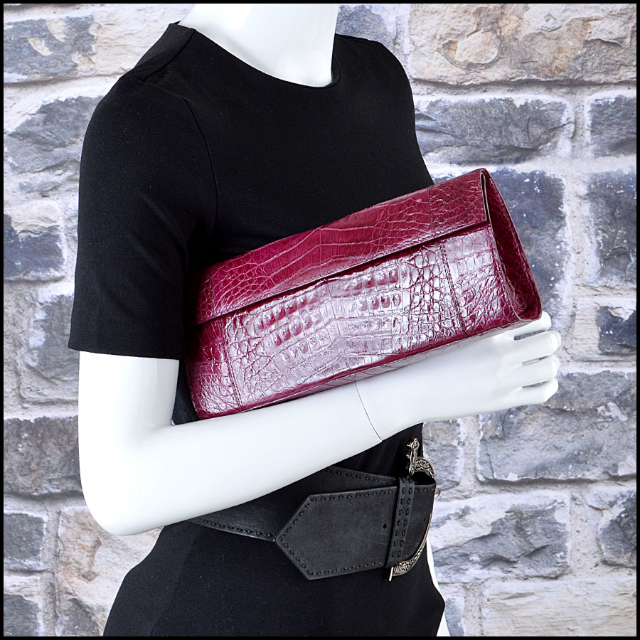 Nancy Gonzalez Crocodile Clutch Handbag Man
