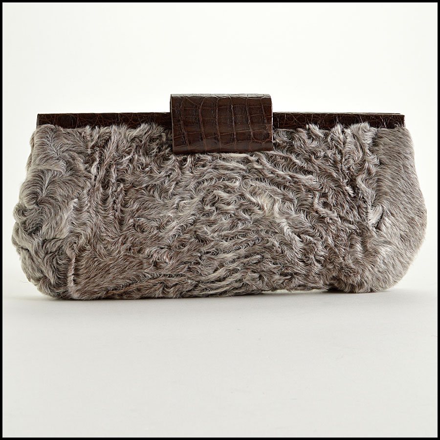Nancy Gonzalez Crocodile Clutch Evening Back