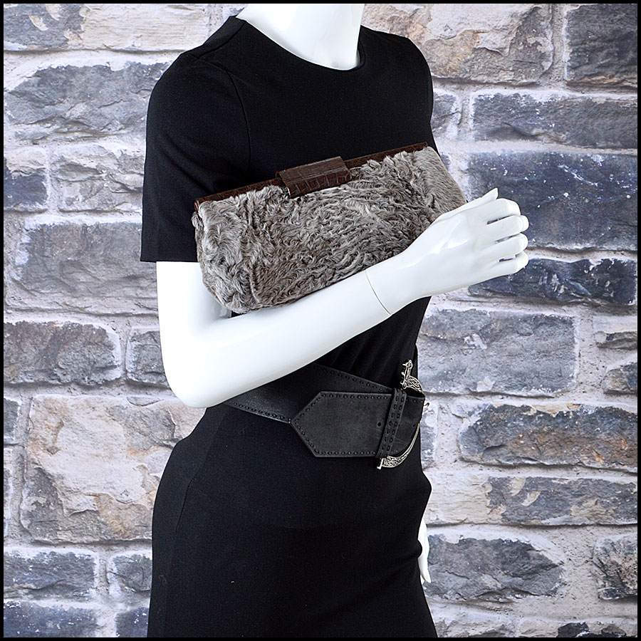 Nancy Gonzalez Crocodile Clutch Man