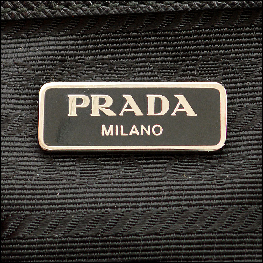Prada Nylon Impunto Shoulder Bag logo