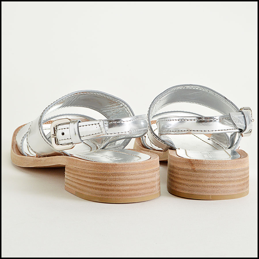 Prada Metallic Sandals Back