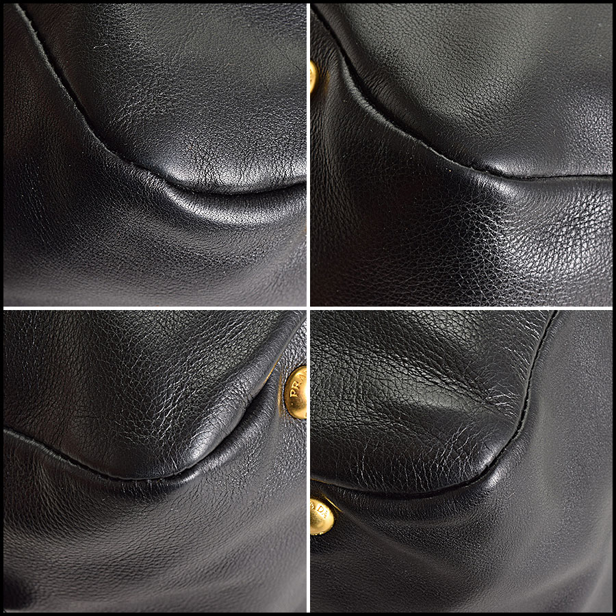 RDC9335 Prada Leather Tote  corners