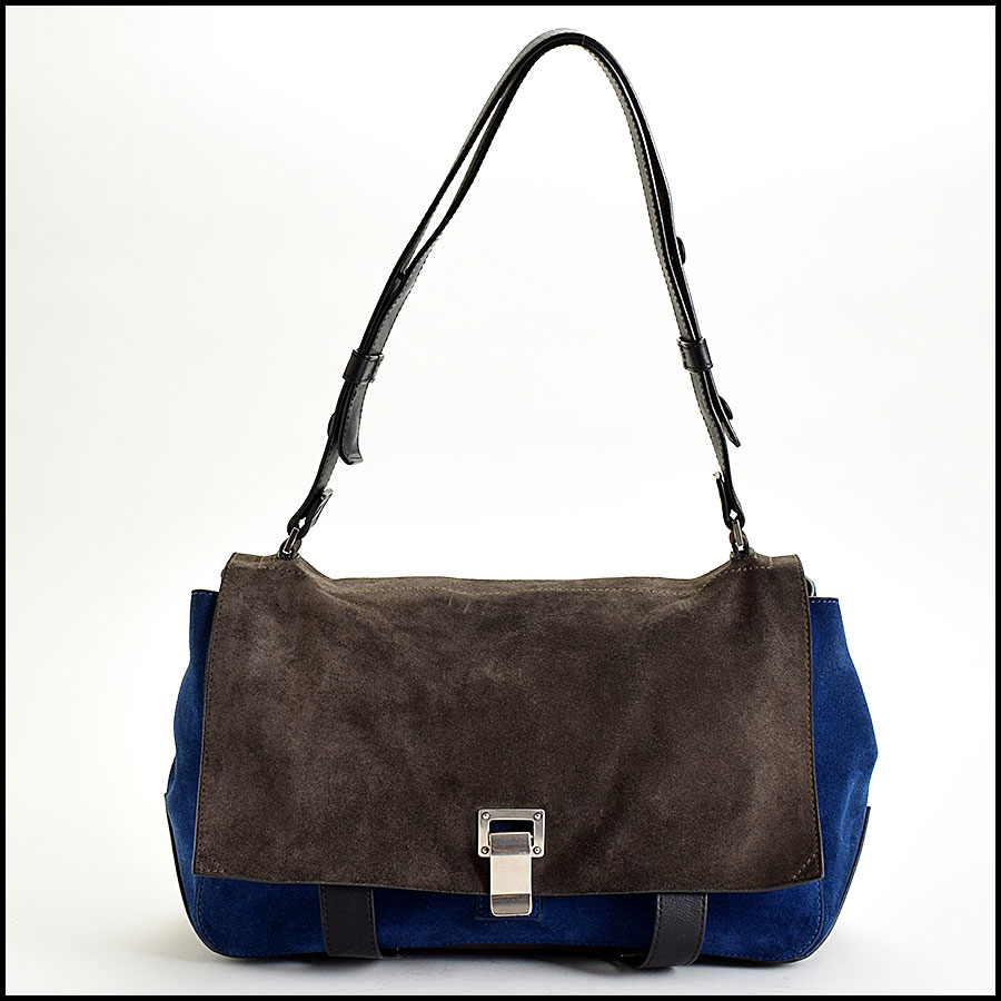 RDC Proenza Schouler Blue/Grey PS Courier Bag