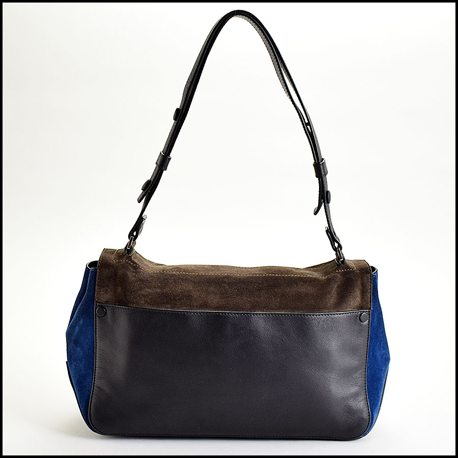RDC Proenza Schouler Blue/Grey PS Courier Bag back