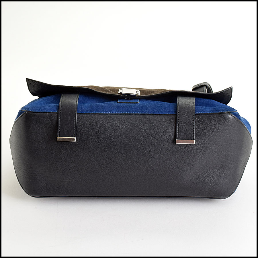 RDC Proenza Schouler Blue/Grey PS Courier Bag bottom