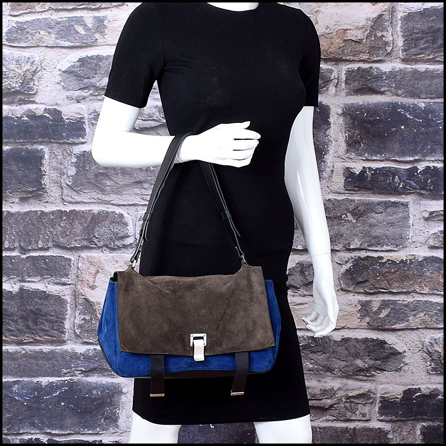 RDC Proenza Schouler Blue/Grey PS Courier Bag model