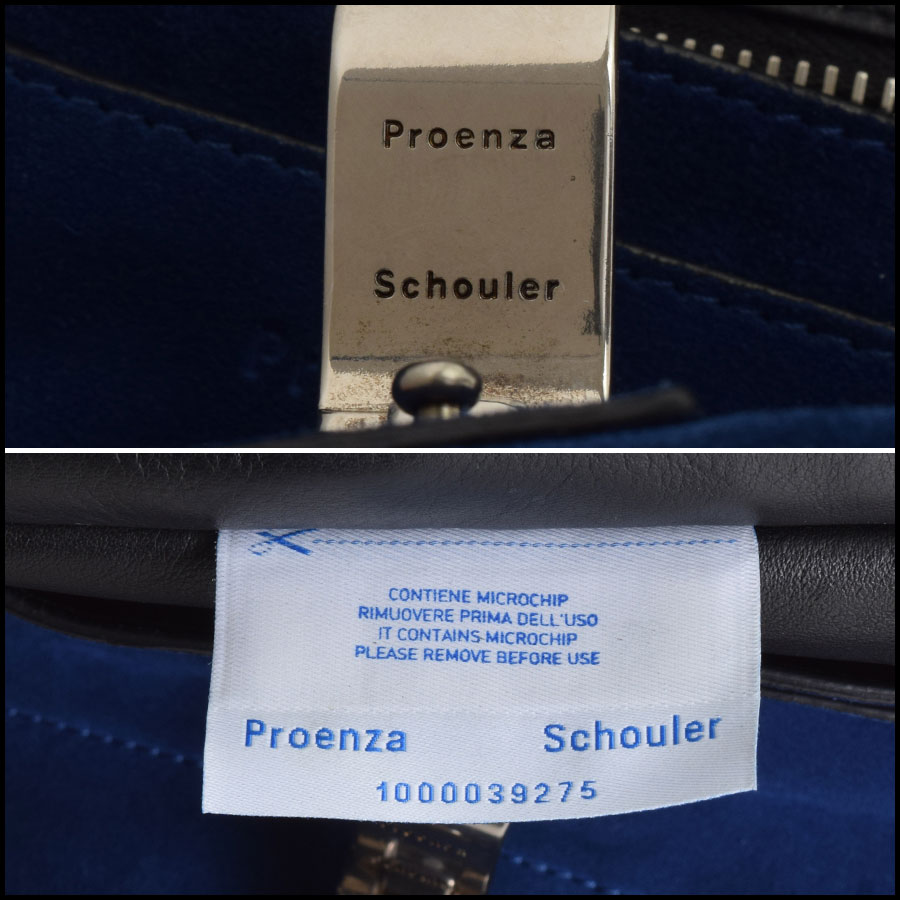 RDC Proenza Schouler Blue/Grey PS Courier Bag tag 1