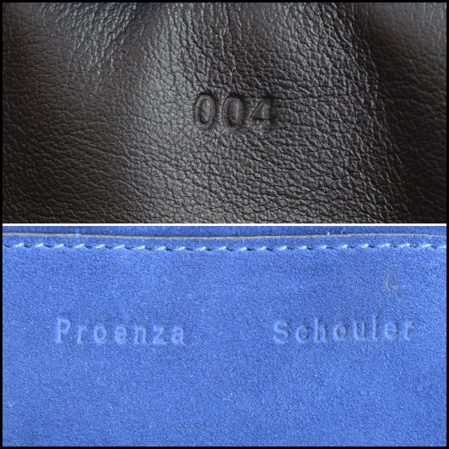 RDC Proenza Schouler Blue/Grey PS Courier Bag tag 2