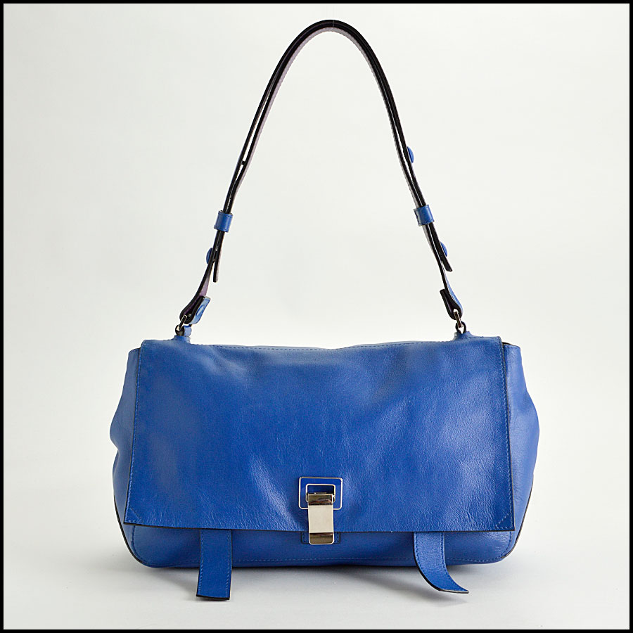 RDC8198 Proenza Schouler Blue/Veruca Courier PS1 Shoulder Bag