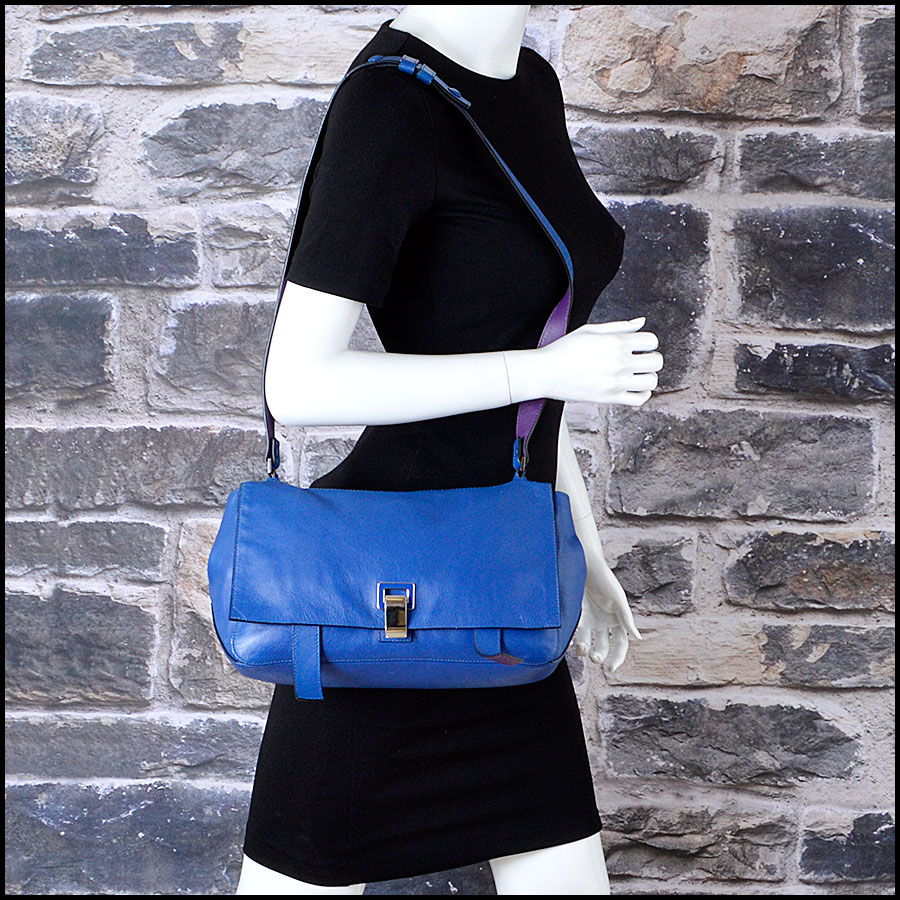 RDC8198 Proenza Schouler Blue/Veruca Courier PS1 Shoulder Bag model