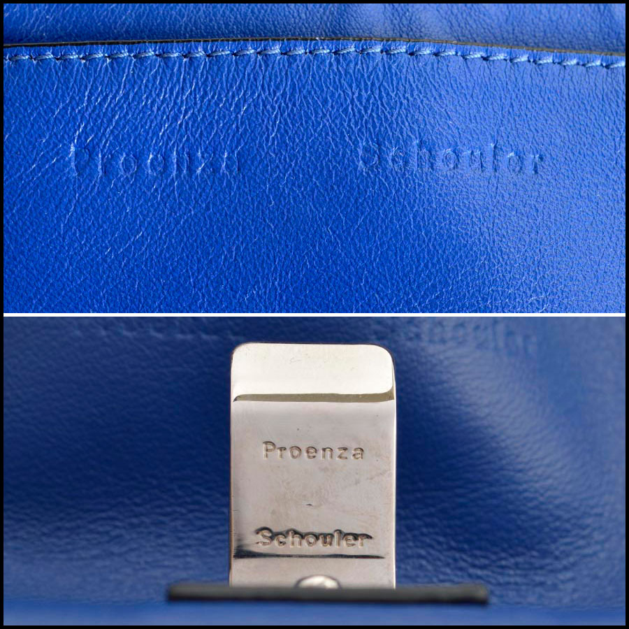 RDC8198 Proenza Schouler Blue/Veruca Courier PS1 Shoulder Bag tag one