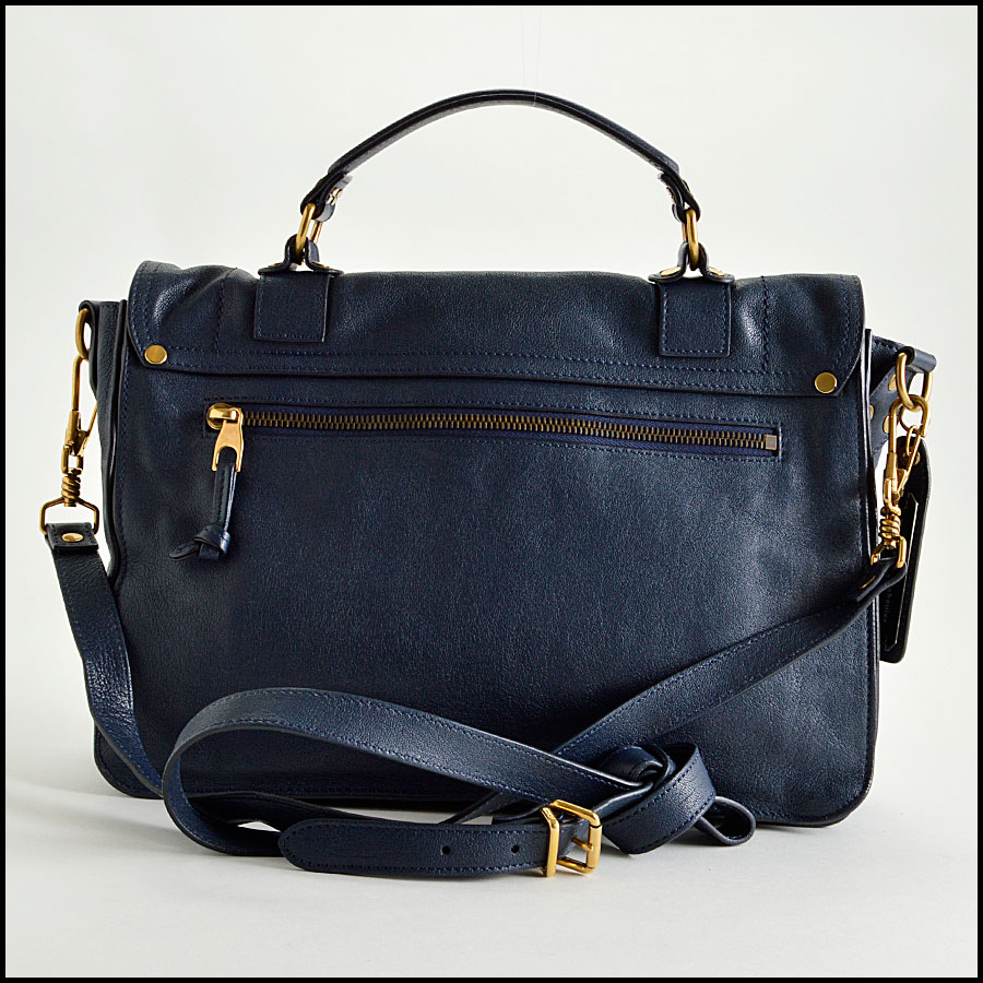 RDC8124 Proenza Schouler Midnight Navy Blue Medium PS1 back