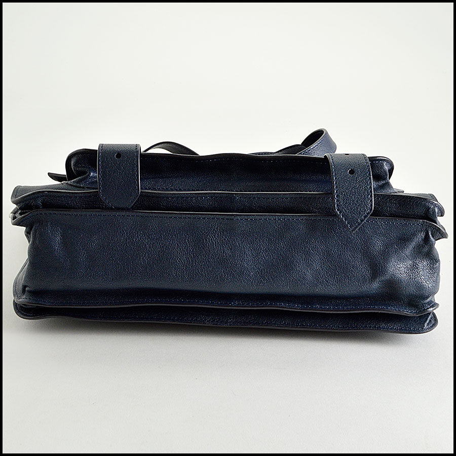 RDC8124 Proenza Schouler Midnight Navy Blue Medium PS1 bottom