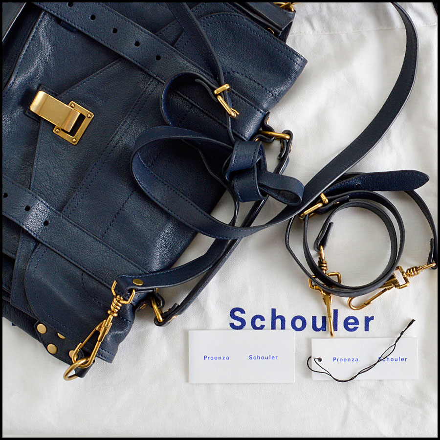 RDC8124 Proenza Schouler Midnight Navy Blue Medium PS1 extras