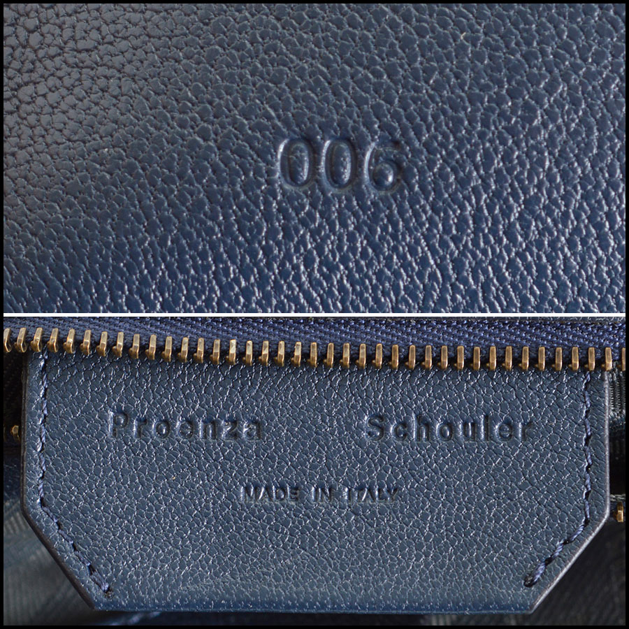 RDC8124 Proenza Schouler Midnight Navy Blue Medium PS1 tag 2