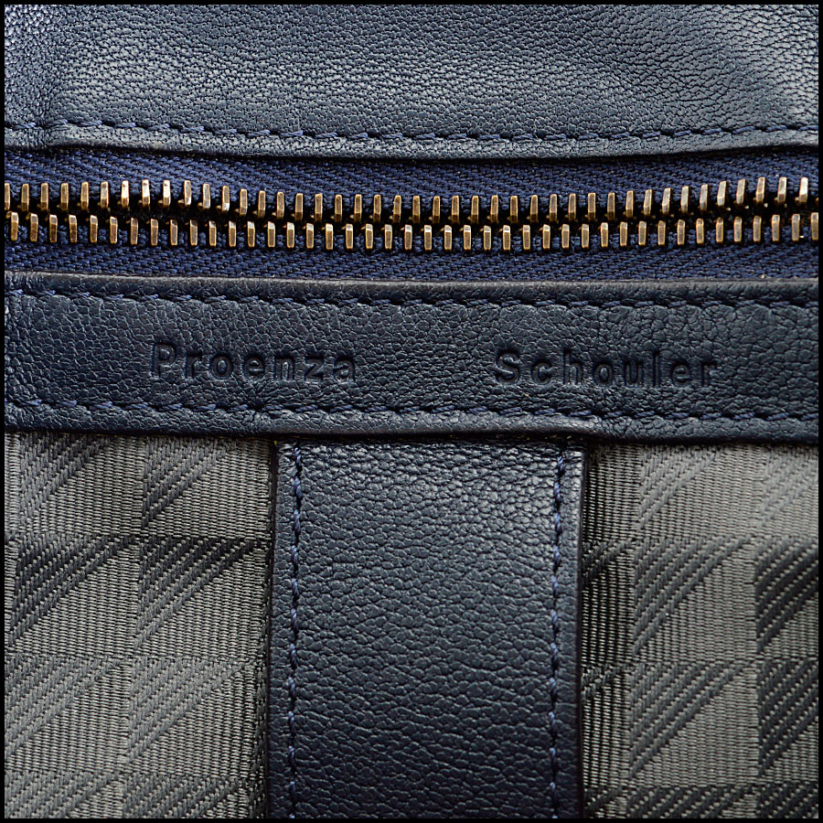 RDC8124 Proenza Schouler Midnight Navy Blue Medium PS1 tag 3