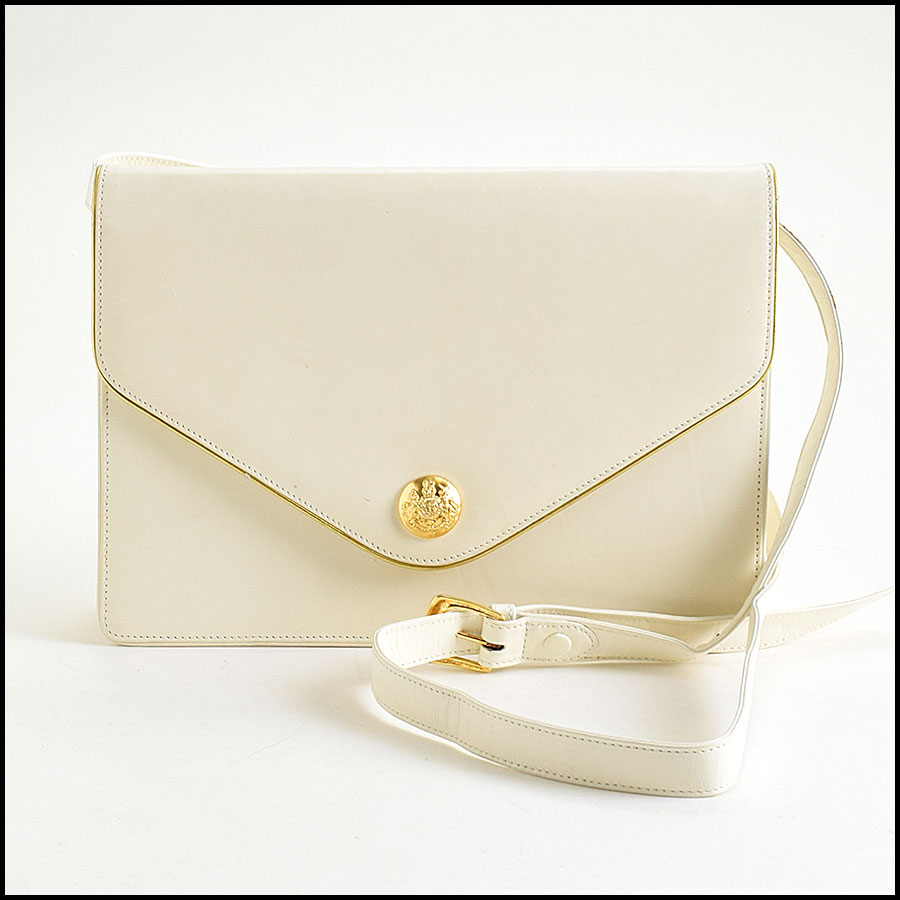 RDC9068 Ralph Lauren Cream Clutch/Shoulder Bag